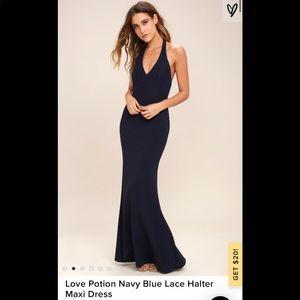 NWT lulus Love Potion Nagy Halter Dress